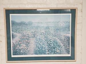 E. Joseph Fontaine Beach Gardens Ocean Signed 4/50 AP Impressionist Inscribed