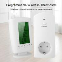 Funk Steckdose Thermostat Temperatur Wireless Programmierbar EU 110-240V