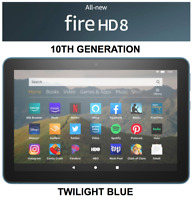 NEW Amazon Fire HD 8 Tablet 64 GB - 10th Generation 2020 Release - TWILIGHT BLUE