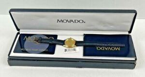 MOVADO LADIES CLASSIC MUSEUM WATCH GOLD FACE - RARE - New With Tags