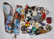 Disney pin trading Starter Set Lanyard + 50 pin lot NEW MOANA Lanyard