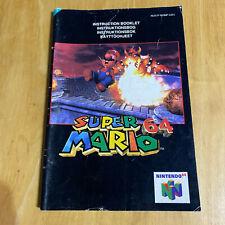 Nintendo 64 N64 Instruction Manual Only - Super Mario 64