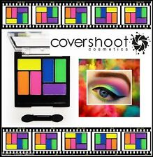 Neon Eyeshadow Palette 6 Colour by COVERSHOOT bright funky disco 80s cover shoot
