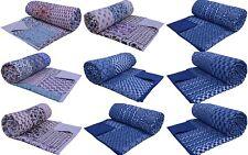 5 PC Wholesale Lot King Size Kantha Quilt Patchwork Rajai Comforter Duvet Cover