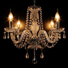 Elegant Crystal Chandelier Modern Ceiling Light 4 Lamp Pendant Fixture Lighting
