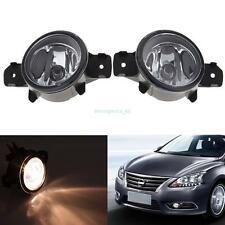 Fog Lights Pair RH LH For Nissan Sentra Maxima 07-08 Rogue 08-11 Altima 10-13