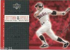 2002 Upper Deck Carlton Fisk Boston Redsox Hitting for Cycle #H-4 Baseball Card
