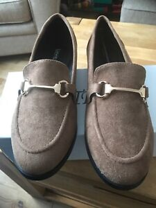 NEW Bestelle Khaki Loafer Suede Shoes Womens Size 7 - EU Size 40