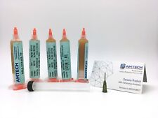 5-Pack AMTECH RMA-223-AS-TF No-clean Solder Flux with UV 10cc - Aged March 2018
