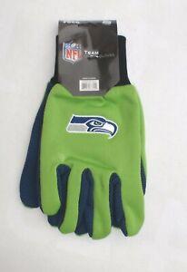 NFL Seattle Seahawks men's one size grip gloves green blue