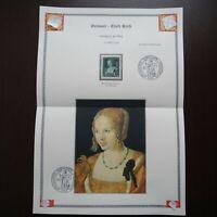 Germany Nazi 1939 Stamp MNH Venetian Woman by Albrecht Durer German Art Day WWII