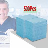 Disposable Patient Bibs Fluid Resistant Dental Surgical Medical Blue 500pcs USA