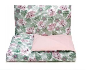 Baby Bedding Set For Crib Two-Sided Green Cotton Pillowcase Duvet Cover 120x90