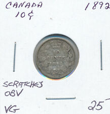 CANADA 10 CENTS 1892 - VG