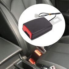 Car Seat Belt Extender Safety Buckle Card Holder Connector Socket+Warning Cable