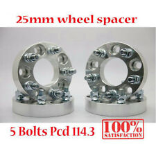 (4) 25mm 5x114.3 SPACER SPACERS ADAPTERS 12X1.25 FITS Nissan Skyline 200SX S13