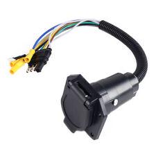 12V Wiring Adapter 4 Pin Flat to 7 Pin Round RV Blade Trailer Plug Towbar