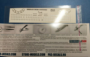 1/144 PAS-DECALS ZVEZDA Decal -Silver edging of the  glazing  Airbus A-321