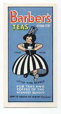 Barbers Tea Dogs Advert Card 1961 - Mint Condition