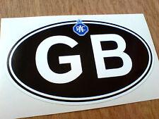 GB RAC Vintage Retro Great Britain Car Sticker Decal 1 off 125mm