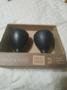 NEW Allen & Roth Mix Match Finials Set of 2 Curtain Rod Decorative Ends #0773164