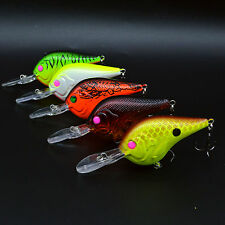 5pcs Hard Crank Baits Fishing Lures Bass CrankBaits Fish Tackle Hook 10.5g/9.5cm