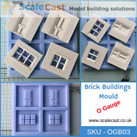 O gauge BRICK BUILDINGS Mould -  Doors and Windows Sections - OGB03 - O Scale