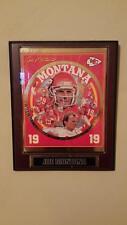 Great condition Joe Montana Kansas city Chiefs 19 19 NFL collector Plaque #3492