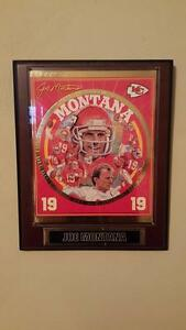 Great condition Joe Montana Kansas city Chiefs 19 19 NFL collector Plaque #3492