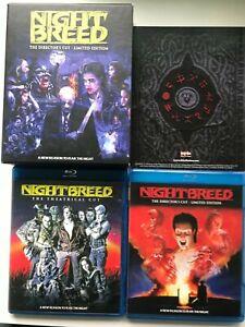 Nightbreed 3 Disc Blu Ray Region A USA Edition Limited Edition 5662/10000