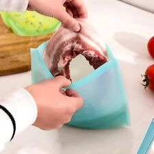Silicone Food Bag, Reusable Silicone Food Storage Bag,Steam, Heat, Microwave