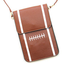 """Football"" Pouch Crossbody Leather Bag"
