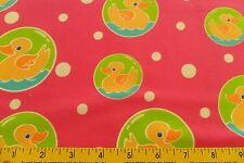 Robert Kaufman Cute To Boot Flannel Fuschia Duck Fabric AKSF-6583-108 sold bty