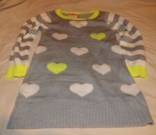 girls gymboree cozy ski lodge heart sweater dress size 4 nwt