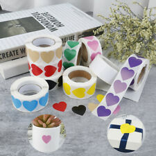 500Pcs/Roll Love Heart Shaped Seal Labels Package Label Sticker mark US DL