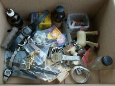 Vintage HUGE Junk Drawer LOT Watches Sheaffers Advertising Mold Sharpener Bottle