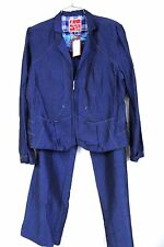 Adventures des Toiles Art to Wear  Half Zip Blue Jacket Pant SUIT NWT $684 42/12