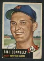 1953 Topps #126 Bill Connelly VG/VGEX RC Rookie NY Giants DP 87360