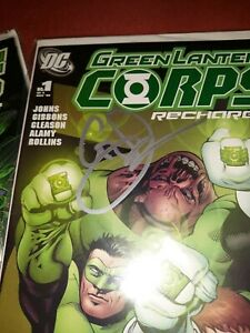 Green Lantern Corps: Recharge #1-5 Complete Set #1&2 AUTOGRAPHED BY GEOFF JOHNS!