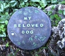 My beloved DOG  mold abs plastic concrete plaster mould