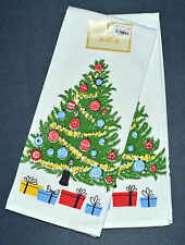 CHRISTMAS TREE Tea Towel Set of 2 Holiday Gift Idea 100% Cotton from India NEW!