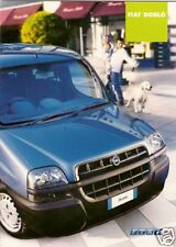 Fiat Doblo Estate 2001-02 UK Market Sales Brochure 1.2 1.9D 1.9 JTD SX ELX