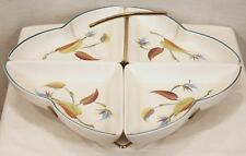 VERY RARE DISCONTINUED DENBY STONEWARE SPRING PATTERN 4 PC HANDLED SERVING DISH
