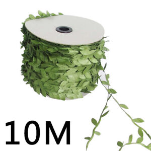 10M Artificial Green Leaf Vine Garland Plant Wreath Foliage Making Craft 12UK