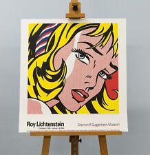 Roy Lichtenstein -  Girl with Hair Ribbon - Original 1993 Lithograph