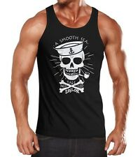 Herren Tank Top A smooth sea never made skilled Sailor Skull Totenkopf Neverless