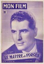 Revue Mon Film n° 109 Le maitre de forges Jean Chevrier 1948