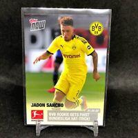 Jadon Sancho Signature Card #35 Topps 2020 BVB Borussia Dortmund Cards x20