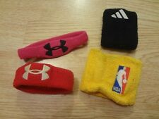 Youth Boys Lot of 4 Sweat Bands Under Armour Adidas NBA