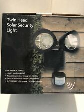 Twin Head Solar Security Light NIB Motion Activated Bright LED's Adjustable